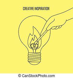 twórczy, natchnienie, pojęcie