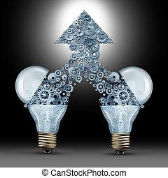 twórczy, powodzenie, innowacja