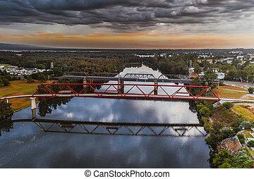Tw bridges over Nepean River Penrith - Bridges over Nepean...