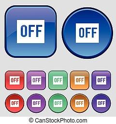 Twaalf,  Set, van, ouderwetse, meldingsbord, Knopen,  Vector, pictogram, jouw, Ontwerp