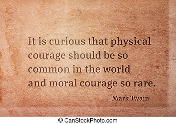 twain, courage, moral