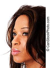 twarz, kobieta, afrykanin