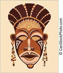 twarz maska, women., afrykanin