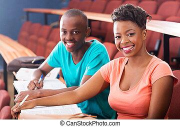 twee, afrikaan, universiteitsstudenten