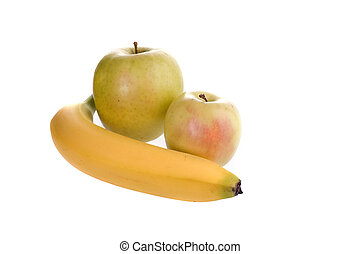twee, appeltjes , banaan