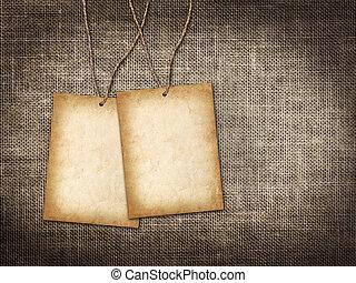twee, kaart, voor, uitnodiging, of, felicitatie