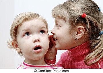 twee, kleine meisjes