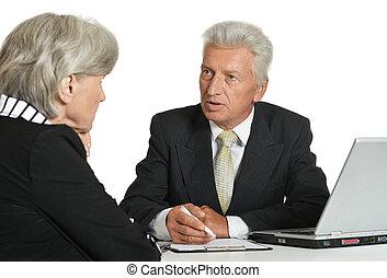 twee, oudere mensen