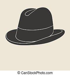 Tweed hat label. - Vintage man s tweed hat label. Design...