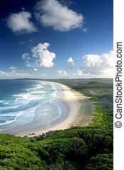 Tweed Head - View from top of Byron Bay, NSW, Australia
