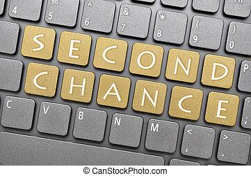 tweede, kans, op, toetsenbord