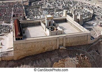 tweede, temple., oud, jeruzalem