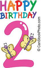 tweede verjaardag, jubileum, ontwerp