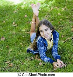 tween, 肖像画, 微笑の女の子