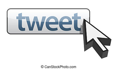 tweet button illustration design