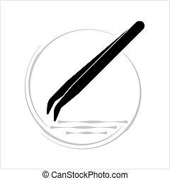 Tweezers Icon, Design