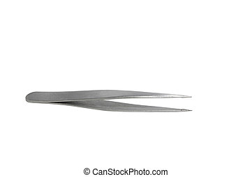 Tweezers on white with clipping path
