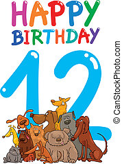 twelfth birthday anniversary design