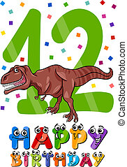 twelfth birthday cartoon design