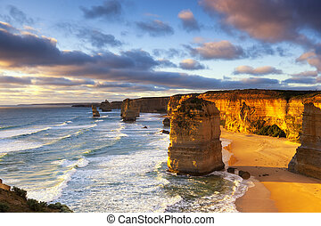 Twelve Apostles Australia - Twelve Apostles at sunset. Great...