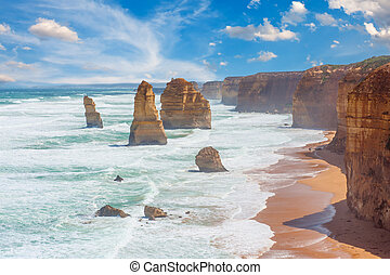 Twelve Apostles, natural landmark near the Great Ocean Road....