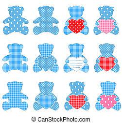 Twelve blue bears