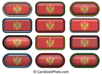twelve buttons of the Flag of Montenegro