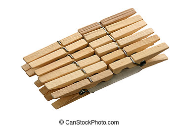 Twelve clothespins