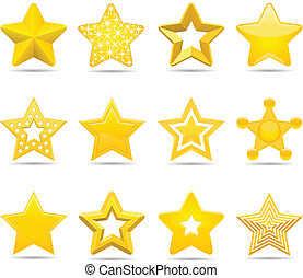 stars - twelve different stars