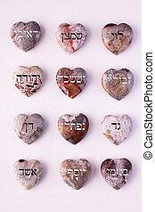 Twelve gemstones
