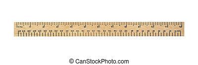 ruler - twelve inch measurement ruler isolated on white