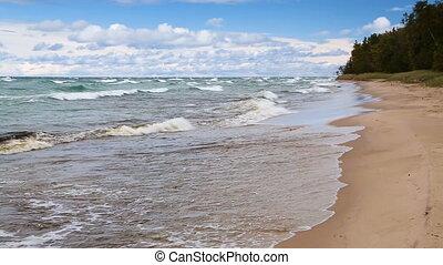 Twelve Mile Beach Loop - Waves break on the sandy Twelve...