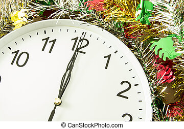 twelve o'clock with christmas decoration