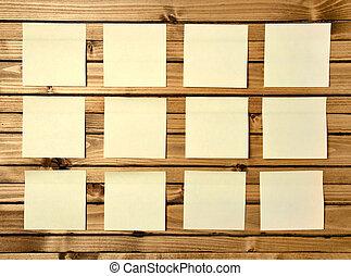 twelve post notes