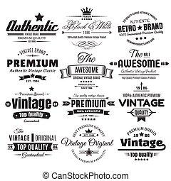 Twelve Vintage Insignias Or Labels