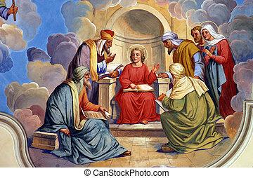 Twelve Years Old Jesus in the Temle
