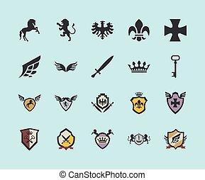 twenty coats of arms