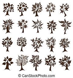 Twenty cute decorative trees