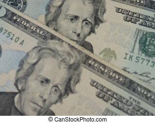 twenty dollar bill useful as money concept