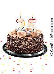 Twenty fifth birthday or anniversary