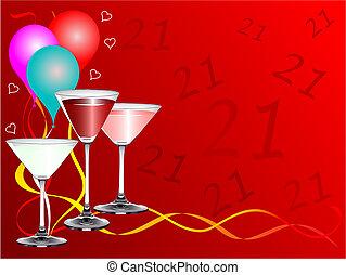 Twenty First Birthday party Background Template