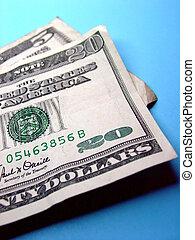 Twenty Five Bucks - Twenty five dollars on blue background