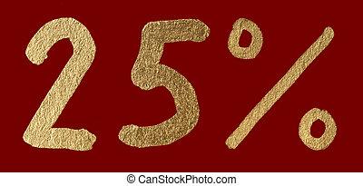 Twenty-five percent discount shiny digits