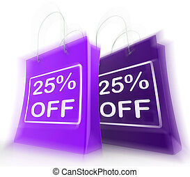 Twenty-Five Percent Off On Bags Shows 25 Bargains