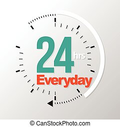 Twenty four hour everyday. Vector illustration. Can use for...