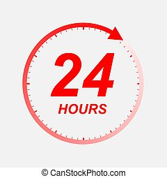 twenty four hour icon, Vector