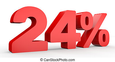 Red Twenty Four Percent Off Discount 24 Clip Art And Stock