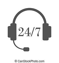 Twenty-four-seven support service