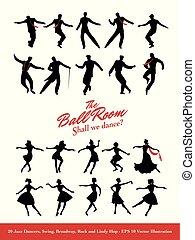 Twenty Jazz Dancers. Swing, Broadway, Rock and Lindy Hop