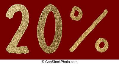 Twenty percent discount shiny digits